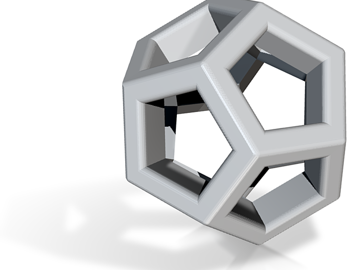 Dodecahedron Pendant Wire Frame VI-08-0003-1002 3d printed