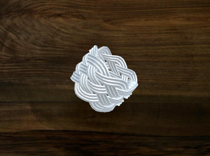 Turk's Head Knot Ring 6 Part X 7 Bight - Size 3.25 3d printed