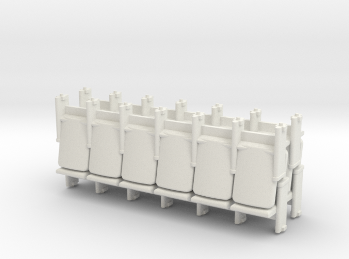 6 x 4 Theater Seats HO Scale 3d printed