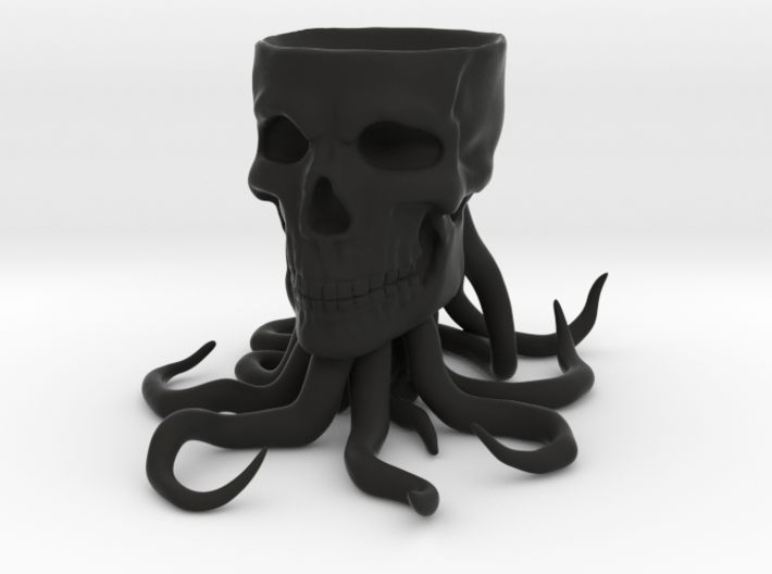 Tentacle Skull Marble Holder 3d printed