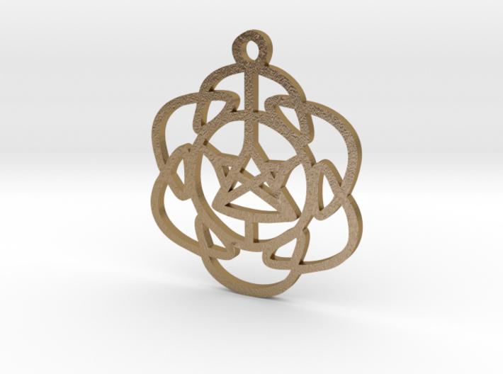 Vibrations Pendant 3d printed