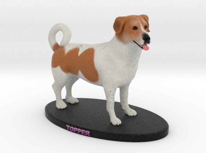 Custom Dog Figurine - Topper 3d printed
