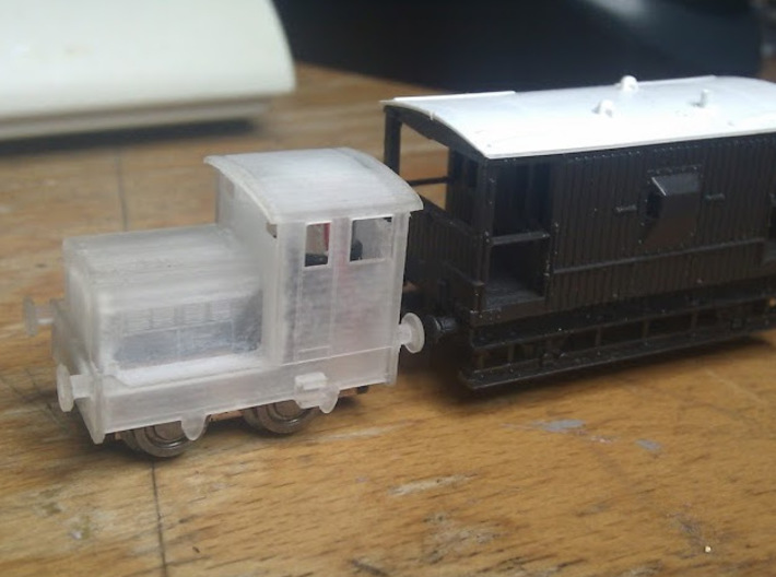 "Ruston 48DS N scale. About 6"" (1mm) wider than acc 3d printed Unpainted with mechanism"