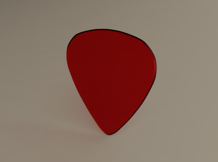 Guitarpick THICK 1mm 3d printed
