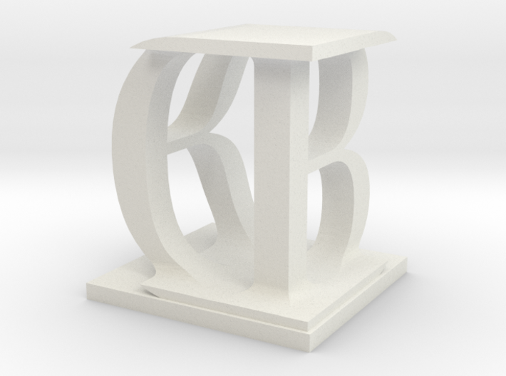 Two way letter / initial B&D 3d printed