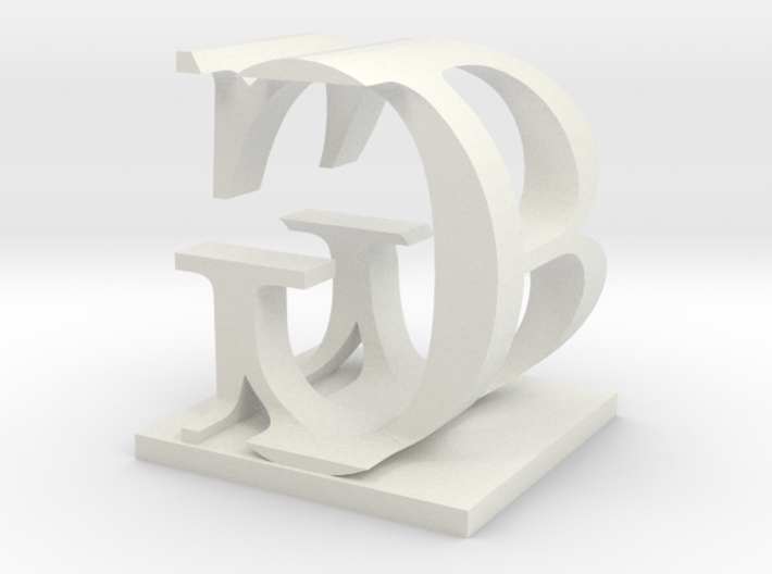 Two way letter / initial B&G 3d printed