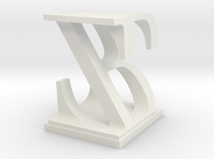 Two way letter / initial B&Z 3d printed