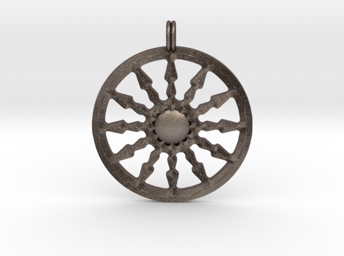 SUN Designer Symbolic Jewelry Pendant 3d printed