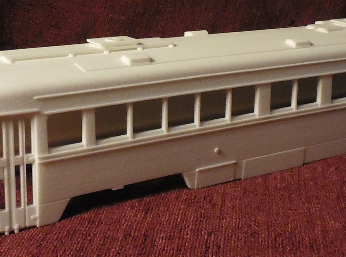 O Scale 1:48  Double-End PCC Red Arrow Trolley BOD 3d printed