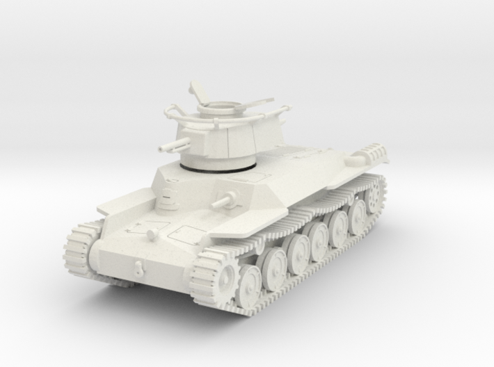 PV52B Type 97 Chi Ha Command (Open Hatch) (28mm) 3d printed