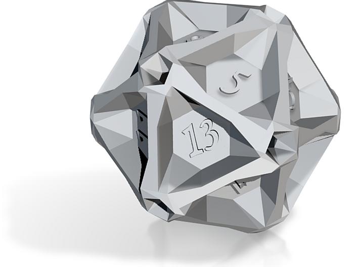Geometric d20 (embossed) 3d printed