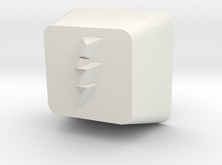 Lightning Bolt Cherry MX Keycap 3d printed