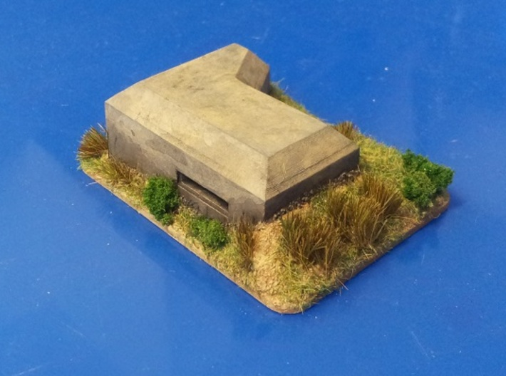 MG Pillbox 1 3d printed painted and based