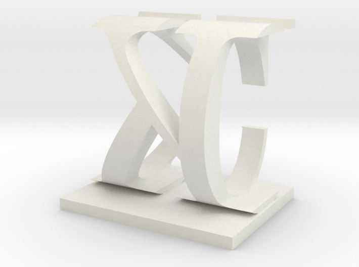 Two way letter / initial C&K 3d printed