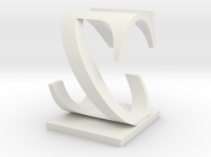 Two way letter / initial C&Z 3d printed