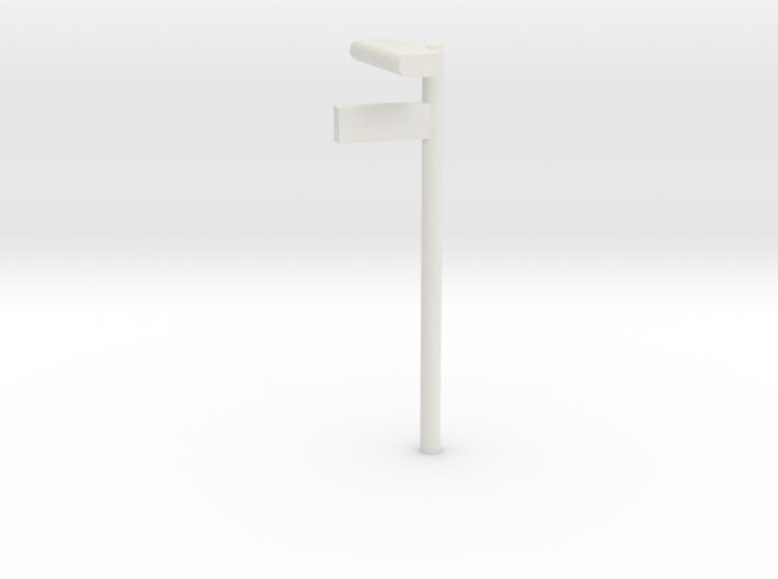 1/160 - DSB Stations lampe med billet skilt (VIA) 3d printed