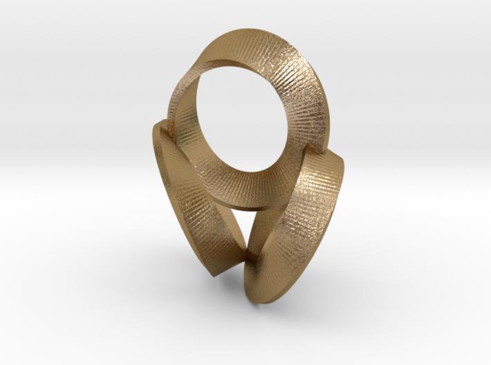 3 Twisted Loops Earring 3d printed