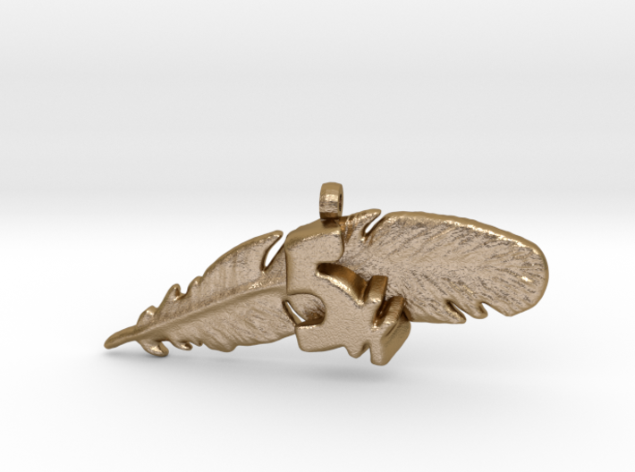 5K FEATHER NECKLACE 3d printed