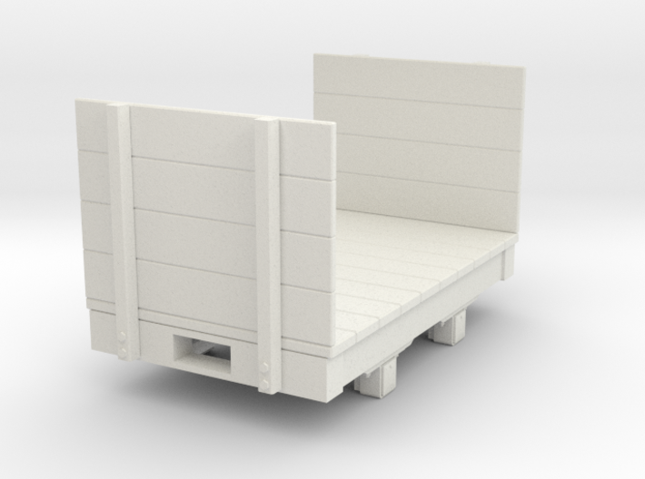 Gn15 small 5ft flat wagon with high ends 3d printed