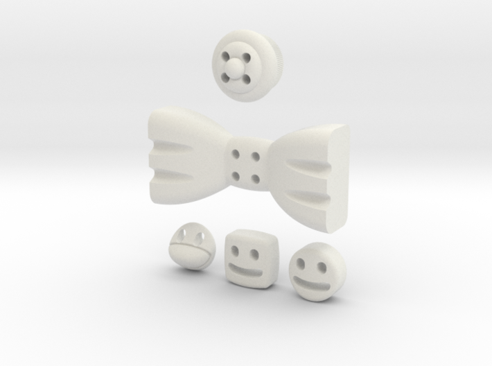5 Mmoduttons to add to happiness 3d printed