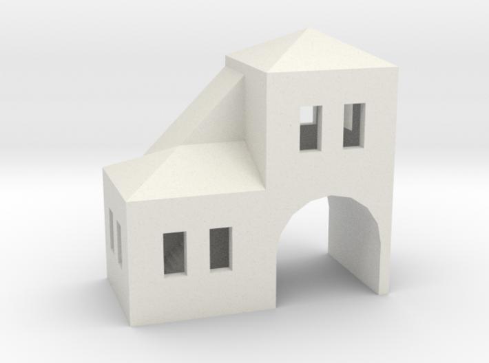 Tiny Gatehouse 3d printed
