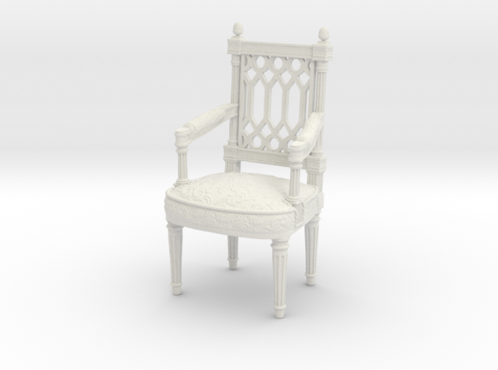 Georges Jacob Chair  1/12TH scale  (1739-1814) 3d printed