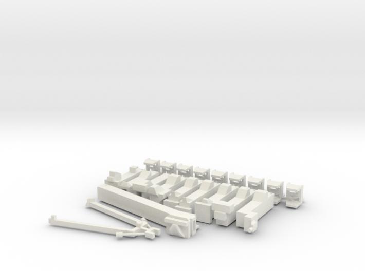 1/400 NASA LUT Swingarms-Pivots-Supports-Damping  3d printed