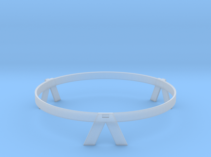 New Horizons 1/24th Dish Antenna Mount Ring 3d printed