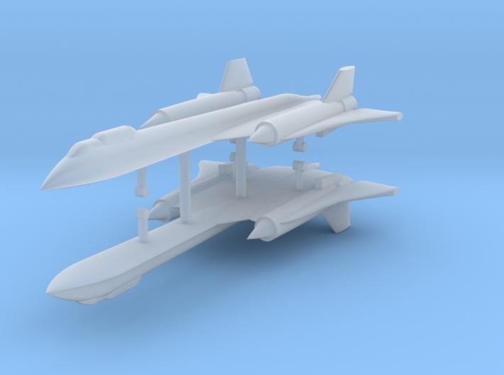 1/700 SR-71B/C Blackbird (x2) 3d printed