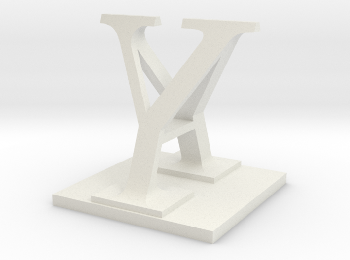 Two way letter / initial A&Y 3d printed