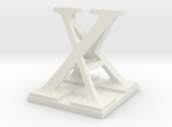 Two way letter / initial A&X 3d printed