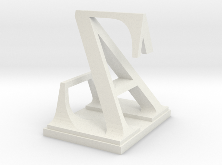 Two way letter / initial A&Z 3d printed