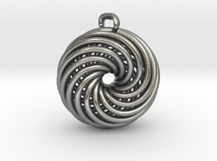 Vortex Pendant Precious Metal Cast Version 3d printed