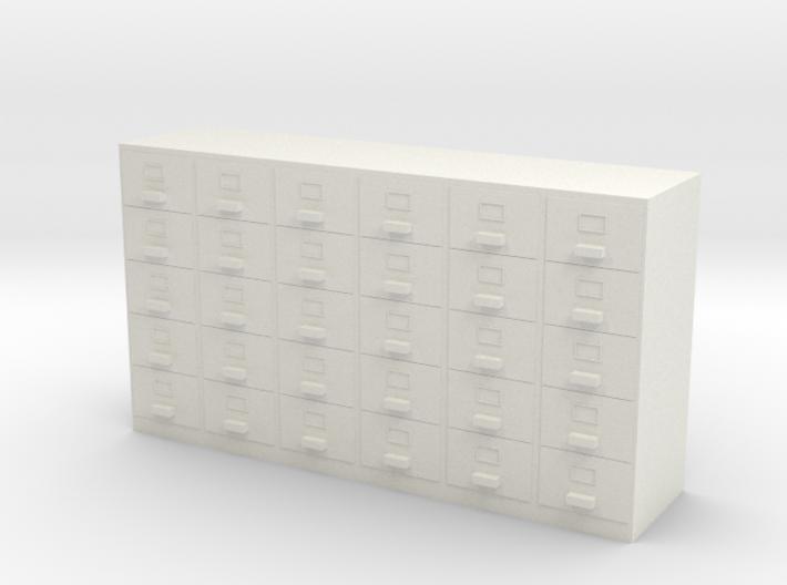 Miniature 1:48 Filing Cabinet 3d printed
