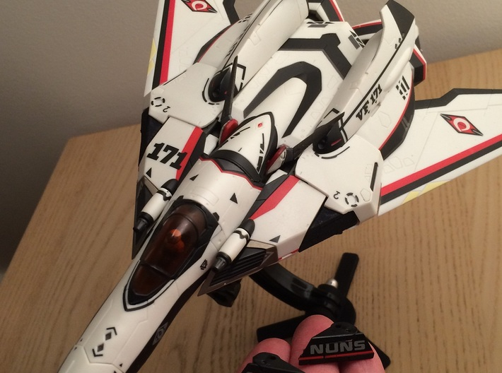 VF-171 NUNS triangles WBk-SF version 3d printed VF-171 equipped with Shapeways' triangle