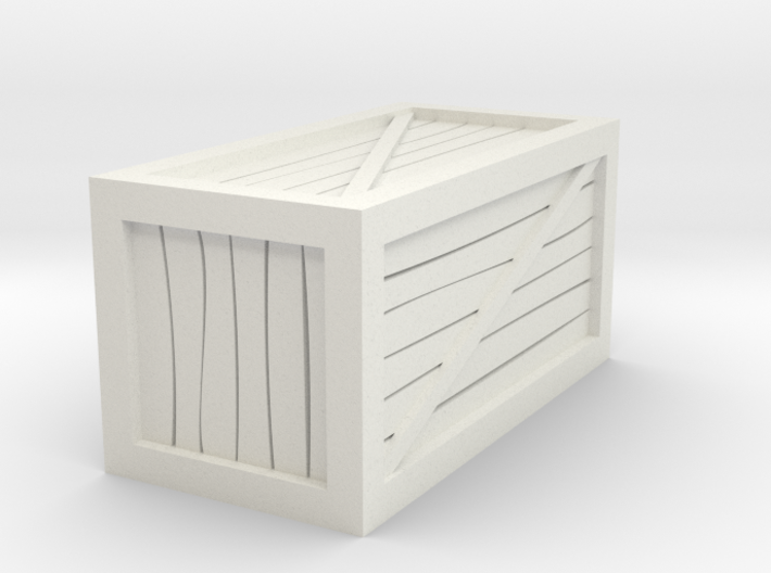 """1""""x1""""x2"""" Crate Tabletop Miniature 3d printed"""