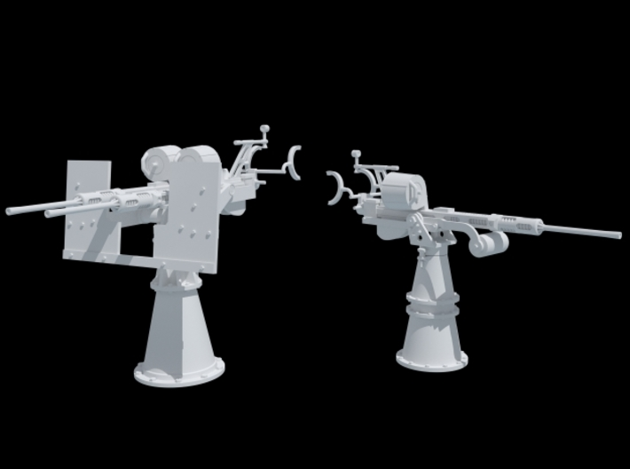 20mm Oerlikon and Twin 20 mm Oerlikon 1/35 Scale 3d printed After Assembly
