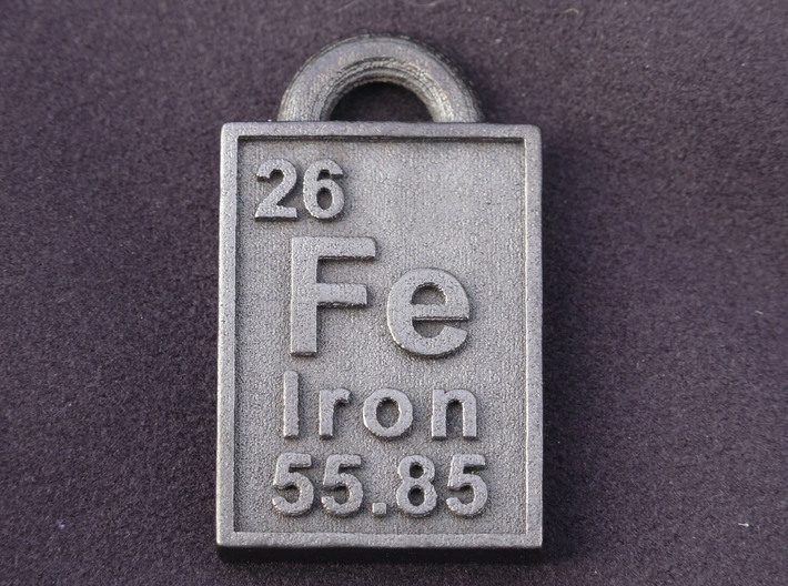 Iron periodic table pendant 8ta8895kt by cbertucio iron periodic table pendant 3d printed the iron pendant printed in steel urtaz Gallery
