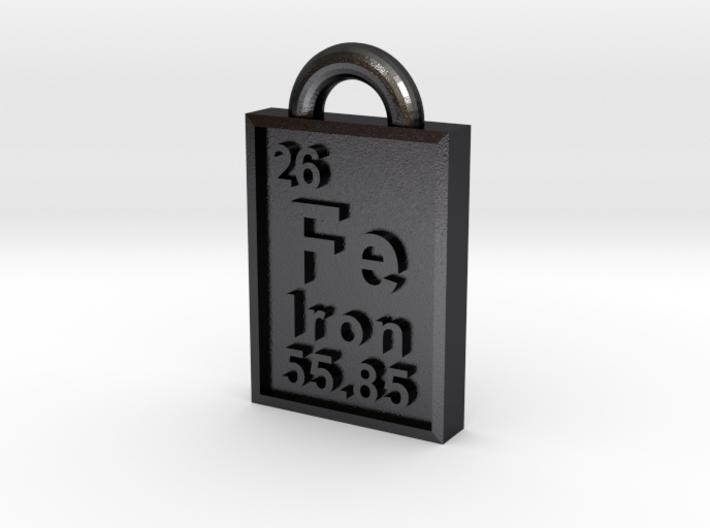 Iron Periodic Table Pendant 3d printed