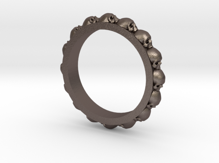 Skull Ring Eternity Style size 9 3d printed