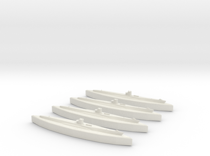 U-48 (Type VIIB U-Boat) 1/1800 x4 3d printed