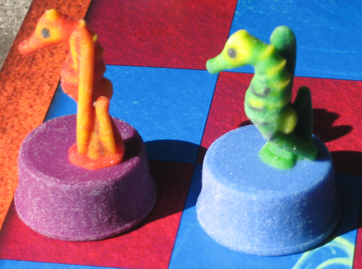 Sea Chess Pieces - Small 3d printed Knight/seahorse