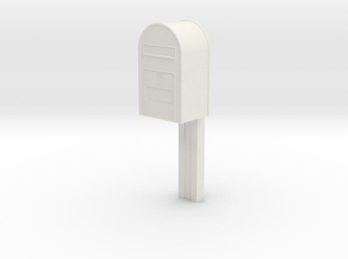 1/32 - Post Danmark - Postkasse på stang 3d printed