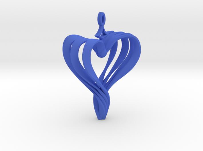 Roped Heart Earrings / Handmade Heart Earrings 3d printed