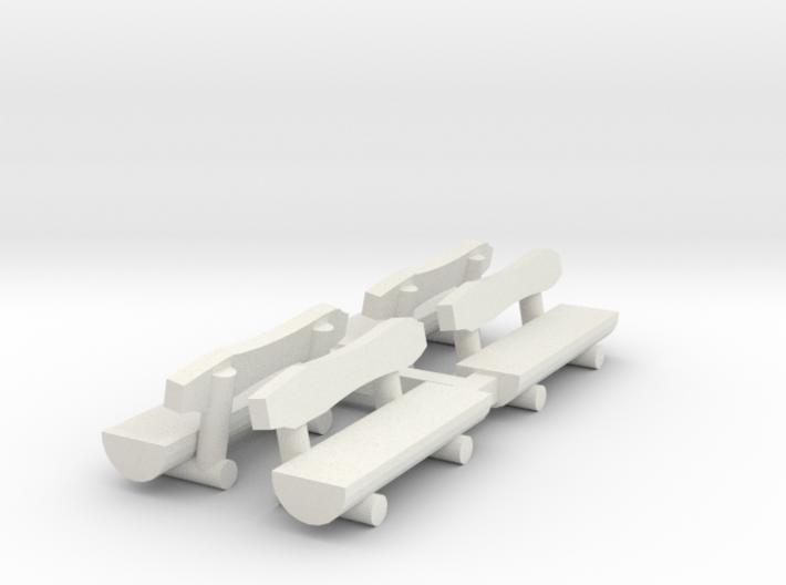 4 Rundholzbänke (N 1:160) 3d printed