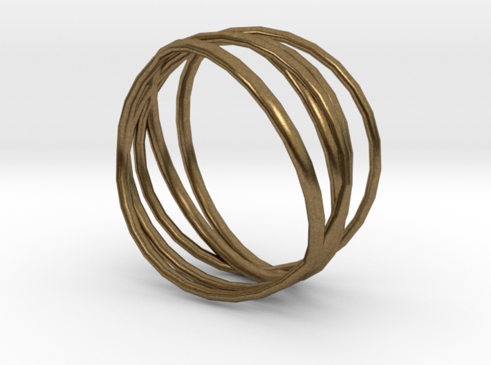 Ring 'Interconnected' / size 5 3d printed