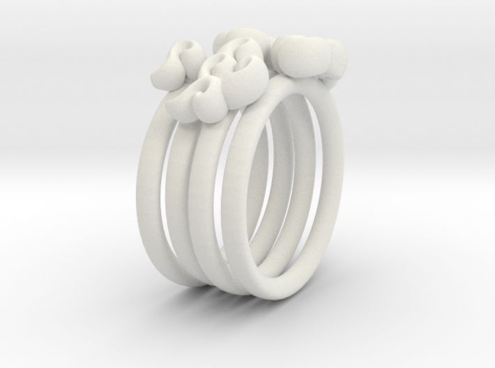 Four Clouds - size 6 - 3d printed