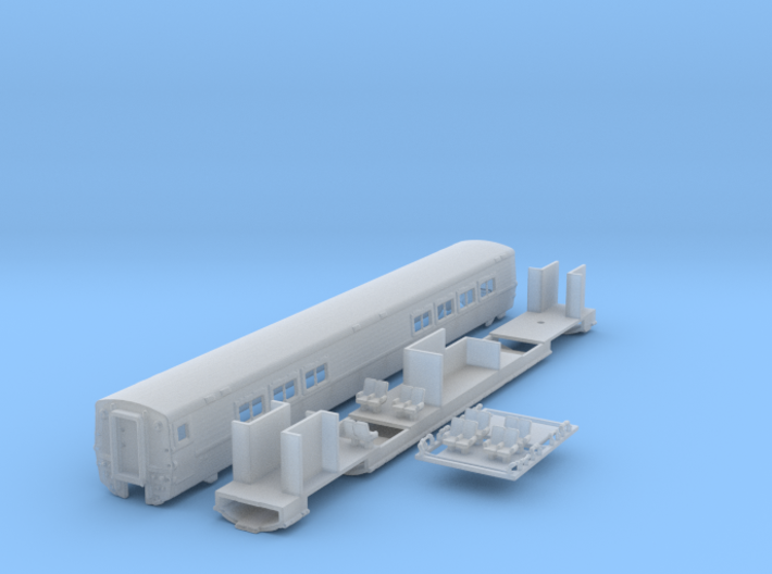 Amtrak LRC Cafe Car. N Scale 3d printed