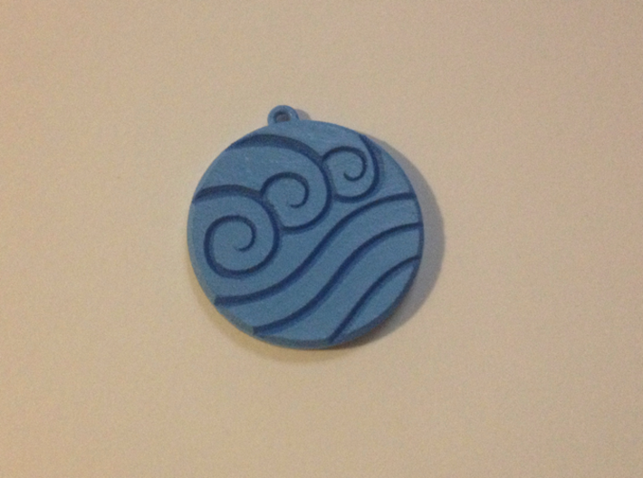 Water Clan Emblem 3d printed After paint (front)