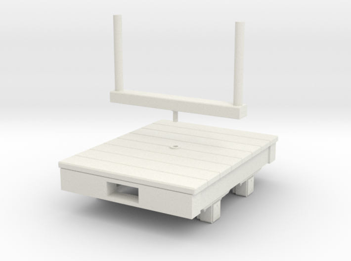 Gn15 small 4ft bolster wagon 3d printed
